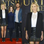 Charlize Theron, Emily Blunt & Chris Hemsworth at 'The Huntsman & the Ice Queen' Hamburg Photocall