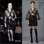 Dakota Fanning in Valentino –  Valentino F/W 2016 Paris Fashion Week Show