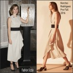 Emma Watson in Narciso Rodriguez- Lights The Empire State Building for International Women's Day