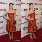 Emmy Rossum in Oscar de la Renta – Showtime`s The Women of Shameless Screening