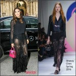Eva Longoria in Shiatzy Chen – Shiatzy Chen F/W 2016 Paris Fashion Week Show