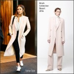 Jessica Alba in Brock Collection-  Out In New York