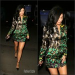 Kylie Jenner in Versace   Animal Print Coat -Out In West Hollywood