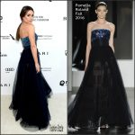 Lea Michele in Pamella Roland – 2016 Elton John AIDS Foundation Academy Awards Viewing Party