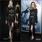 Maggie Q in Reem Acra – 'The Divergent Series: Allegiant' New York  Premiere