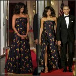 Michelle Obama in Jason Wu – State Dinner for the Canadian PM Trudeau