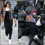 Rihanna in Dries Van Noten & Citizens of Humanity – Out In New York