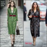 Salma Hayek in Gucci at the 'Jimmy Kimmel Live!' Studio