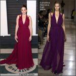 Tina Fey in Carolina Herrera  –  2016 Vanity Fair Oscar Party