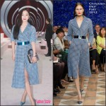 Wang Luo Dan  In Christian Dior Couture – Christian Dior Front Row Paris Fashion Week