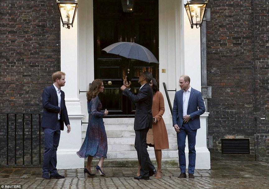 The- Obamas -Dine -At- Kensington-Palace