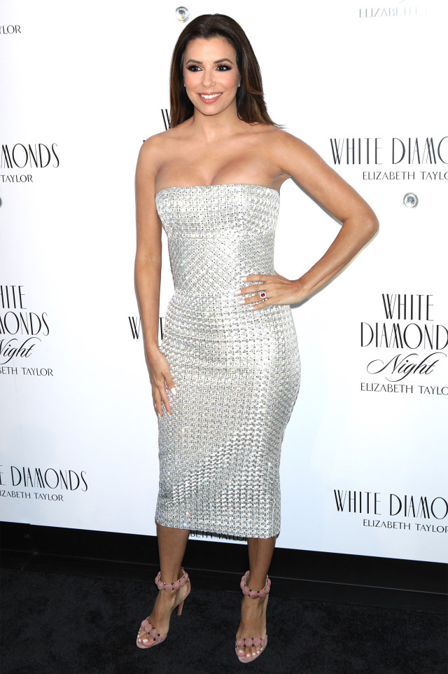 Eva-Longoria -Hosts- Elizabeth -Taylor- White-Diamonds -25th- Anniversary -Celebration