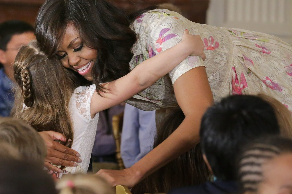 Michelle-Obama-White-Floral-Dress-April-2016-5