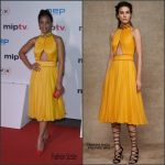 Anika Noni Rose in Tadashi Shoji –  MIPTV Gala at Hotel Martinez in Cannes