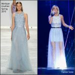 Carrie Underwood  In Monique Lhuillier – American Idol  Farewell Season Finale