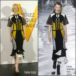 Cate Blanchett in Louis Vuitton at The Opening of Louis Vuitton Volez Voguez Voyagez Tokyo Exhibit