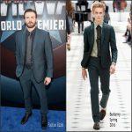 Chris Evans In  Burberry – Captain America  Civil War LA Premiere