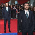 Chris Evans In  Dolce and Gabbana at  Captain America: Civil War London Premiere