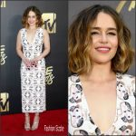 Emilia Clarke in Miu Miu at the 2016 MTV Movie Awards