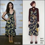 Emmy Rossum  In Marni – Stuart Weitzman and Eith Pencils  Of Promise Partnership Launch