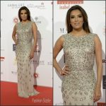 Eva Longoria in Rosa Clara at the 2016 Madrid Global Gift Gala