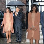 First Lady Michelle Obama In Michael Kors – Kensington Palace in London