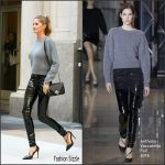 Gisele Bundchen in Anthony Vaccarello Leaving her New York  Apartment