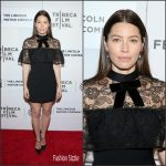 Jessica Biel In Self Portrait –  Devil and the Deep Blue Sea Premiere