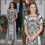 Kate Middleton In  Temperley London – The Queens's 90th Birthday in New Delhi