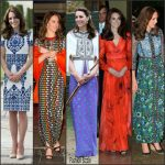 Kate Middleton outfits on Royal Tour In India and Bhutan