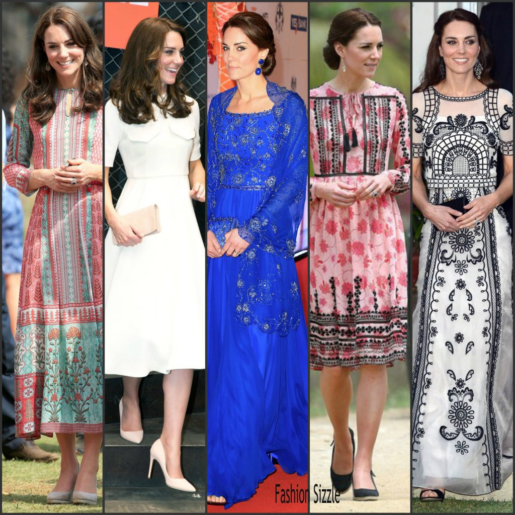 Kate Middleton Outfits Worn On Royal Visit To India Fashion Sizzle