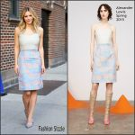 Katharine McPhee in Alexander Lewis at The Late Show With Stephen Colbert