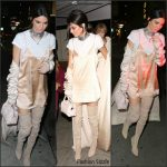 Kendall Jenner  in  August Getty  – The Nice Guy   Restaurant
