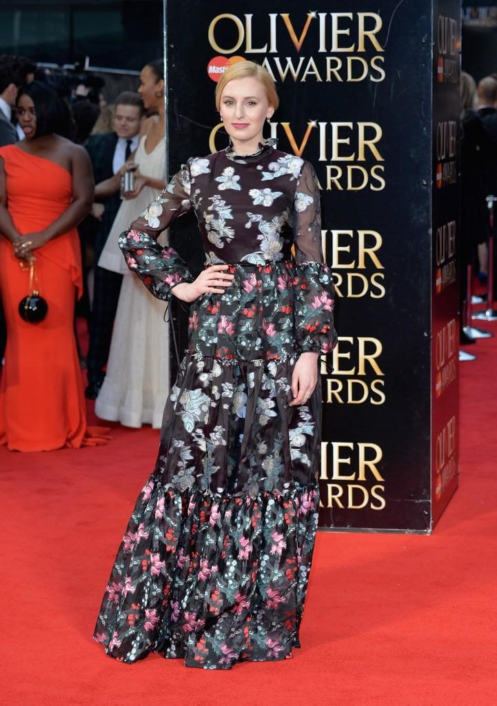 laura-carmichael-2016-olivier-awards-erdem-dress