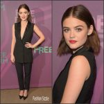 Lucy Hale  In Cristiano Burani  – 2016 ABC Freeform Upfront in New York
