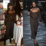 Naomi Campbell in Blumarine at her London Book Signing