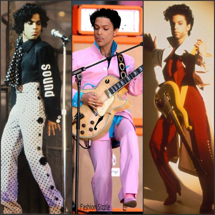 We all know that  Prince was a musical and creative genius who  broke all boundaries. He was  also a fashion  and style icon best known for his ruffle shirts, high waisted paints, great hair, high heels, and just an artist with his own unique style. Below are some of his fashion looks. We still cant believe he is gone. Rest In Peace Prince.