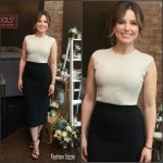Sophia Bush in Narciso Rodriguez at EcoTools & Glamour`s The Girl Project Discussion For Women`s Empowerment