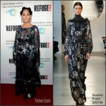 Tracee Ellis Ross in Suno at the REFUGEE Exhibit Opening
