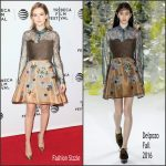 Zoey Deutch in Delpozo – 'Vincent-N-Roxxy' 2016 Tribeca Film Festival Premiere