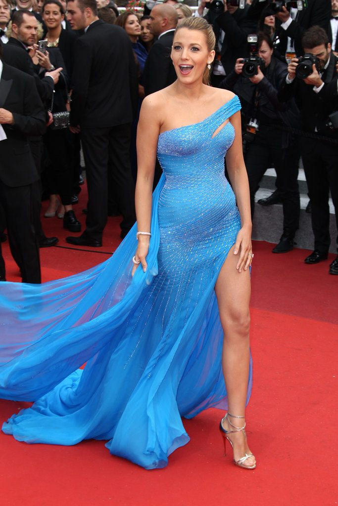 Blake-Lively-Let-Her-Leg-Peek-Out-Her-Blue-Cannes-Gown