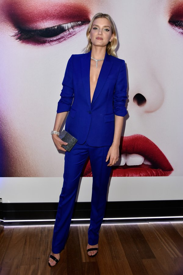 lily-donaldson-in-stella-mcCartney-at-loreal-paris-usa-blue-obsession-party-in-cannes