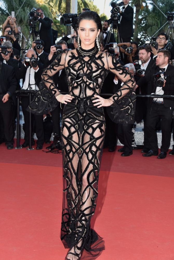 Kendall-Jenner-Cannes-Film-Festival-Roberto-Cavalli-Sheer-Jeweled-Embellished-Gown-2-670x1000