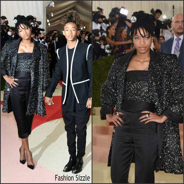 """Willow Smith and her brother Jaden were in attendance at The 2016 Met Gala  held at the Metropolitan Museum of Art in New York this afternoon on May 1, 2016. The theme for  2016 is """"Manus x Machina: Fashion In An Age Of Technology."""""""