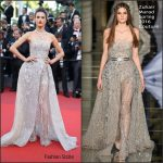 Alessandra Ambrosio In Zuhair Murad  at The Last Face 69th Cannes Film Festival Premiere