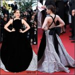 Araya A. Hargate in Jean Paul Gaultier at   From The Land of The Moon (Mal De Pierres) 69th Cannes Film Festival Premiere