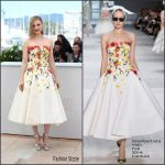 Bella Heathcote  In  Giambattista Valli  at The Neon Demon   69th Cannes Film Festival Photocall