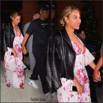 Beyonce in   Saint Laurent  and Gambia at Dinner  Out In New York