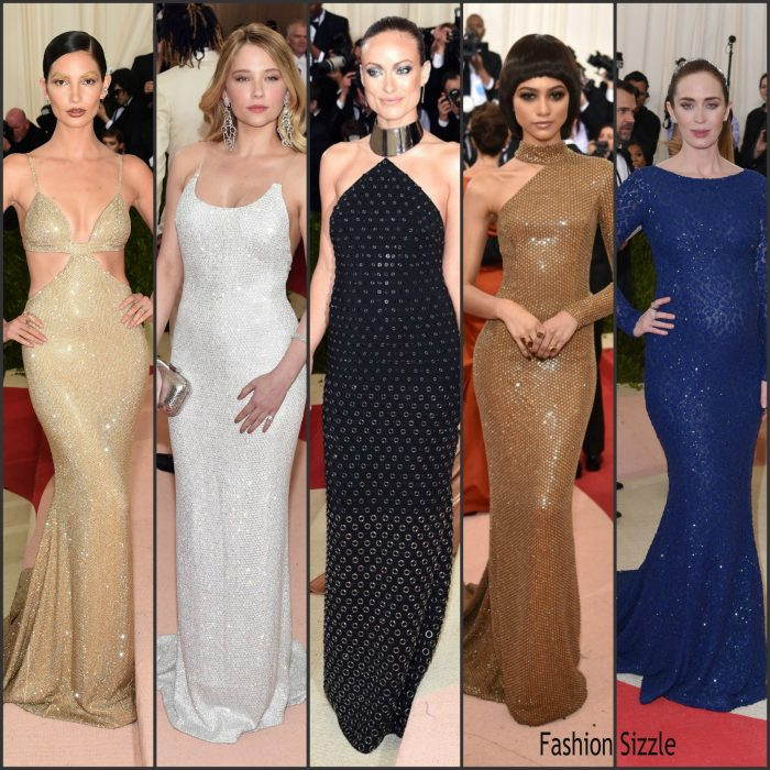 """Below are the women  who  wore  Michael Kors Collection to the Metropolitan Museum of Art's Costume Institute Gala Benefit """"Manus x Machina: Fashion in an Age of Technology"""" on Monday, May 2, 2016, in New York, NY."""