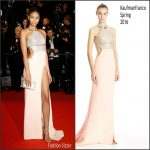 Chanel Iman in Kaufmanfranco at Hands of Stone 69th Cannes Film Festival Screening